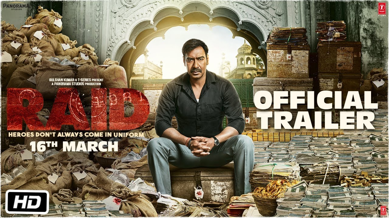 Raid First look of Ajay Devgn's upcoming film looks intriguing; film to release on 16 March