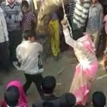 Husband beats woman in public on Panchayat's order in Bulandshahr