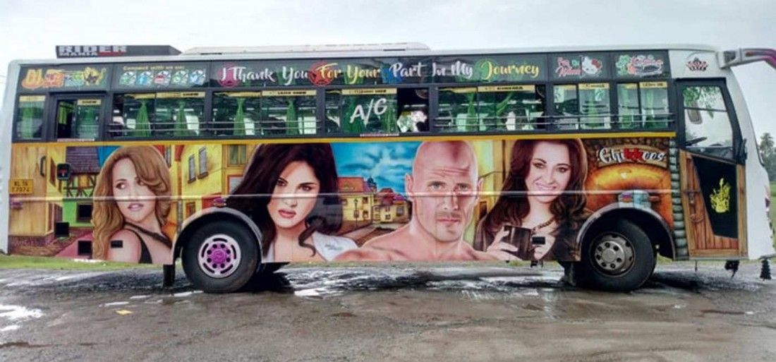 A 'Brazzers' Bus In Kerala Is Carrying Sunny Leone & Mia Khalifa & People Now Want A Ride In It