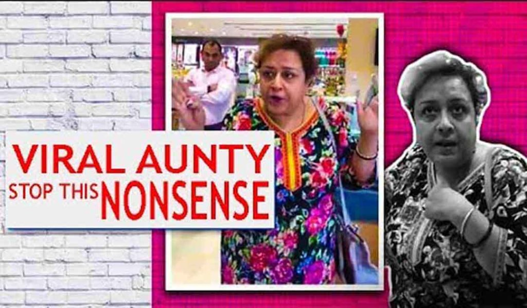 Rebal woman deserves to get rapped Aunty viral Instagram viral aunty