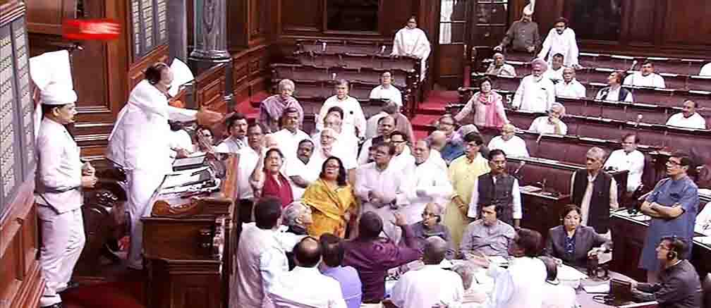Raised concern over a large number of pending issues in the Rajya Sabha courts