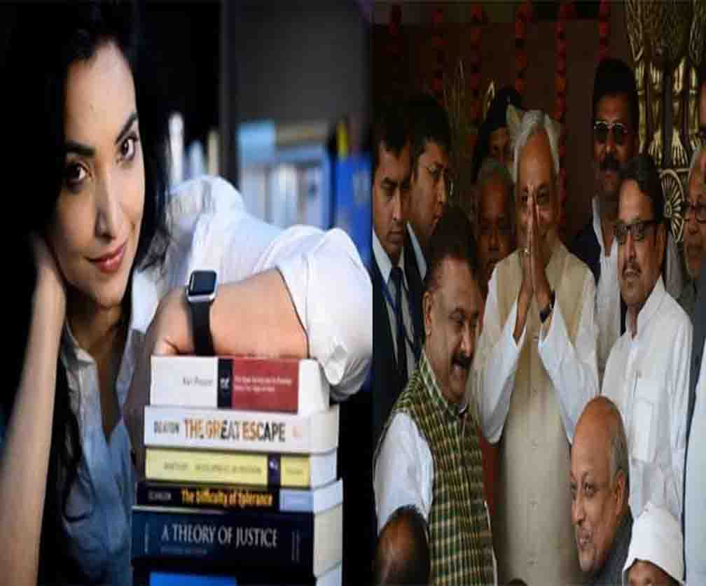 who is mystery girl pushpam chaudhary against nitish