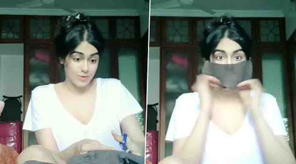 Adah Sharma told how to make masks in the house