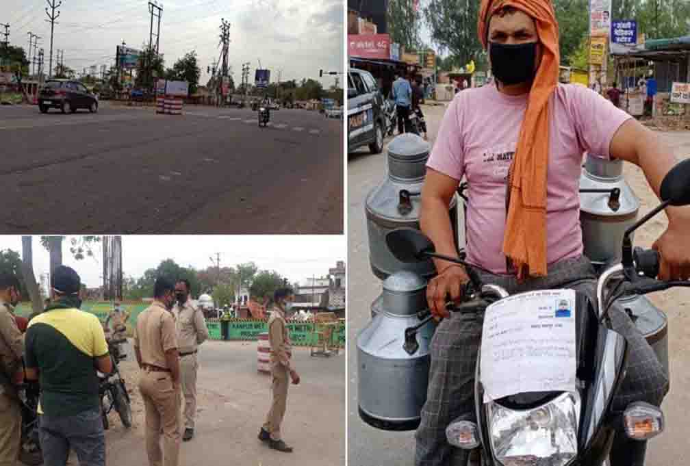 Complete lockdown in Kanpur, police showers lathis on violators
