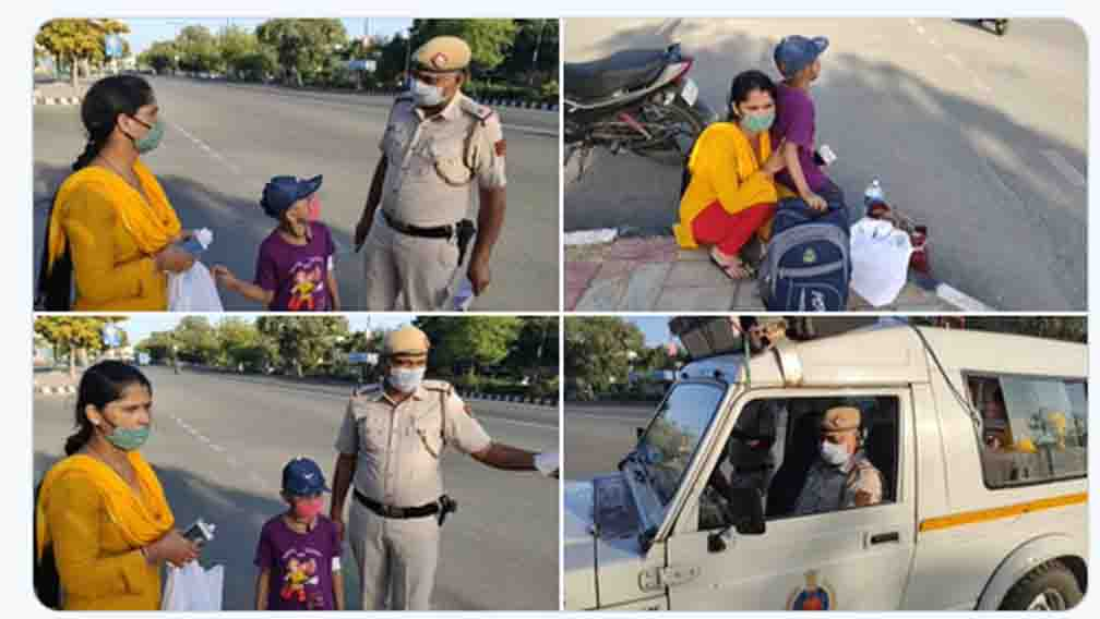 Delhi Police presents a new example of humanity