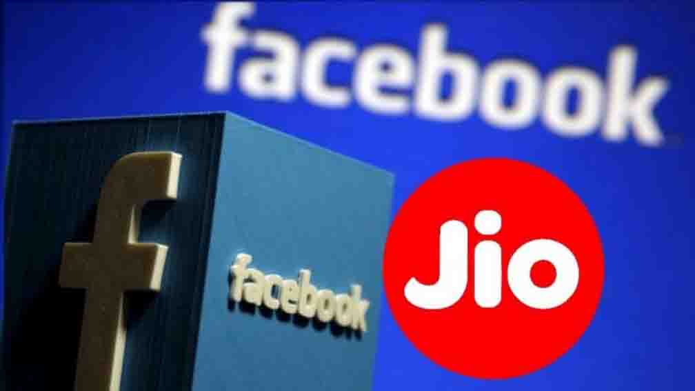 Shares of the company rise eight percent after investing in Facebook's Jio Platforms