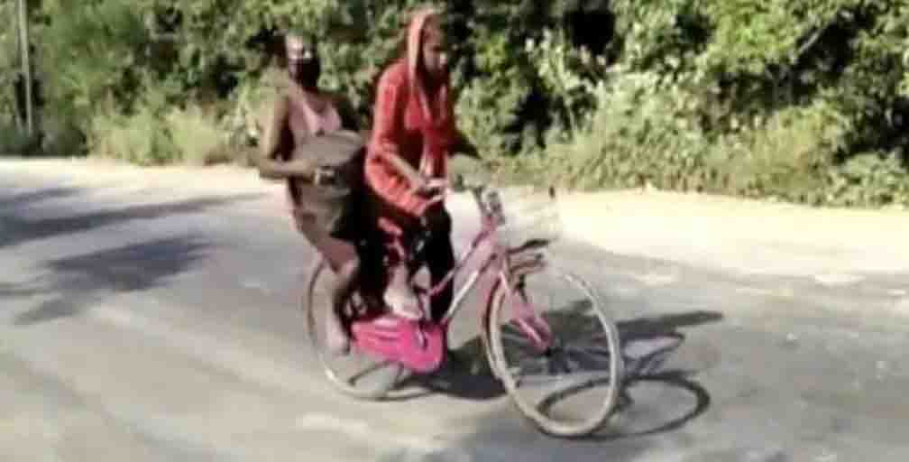 AIBEA came forward to help Jyoti, who traveled several kilometers on a bicycle.