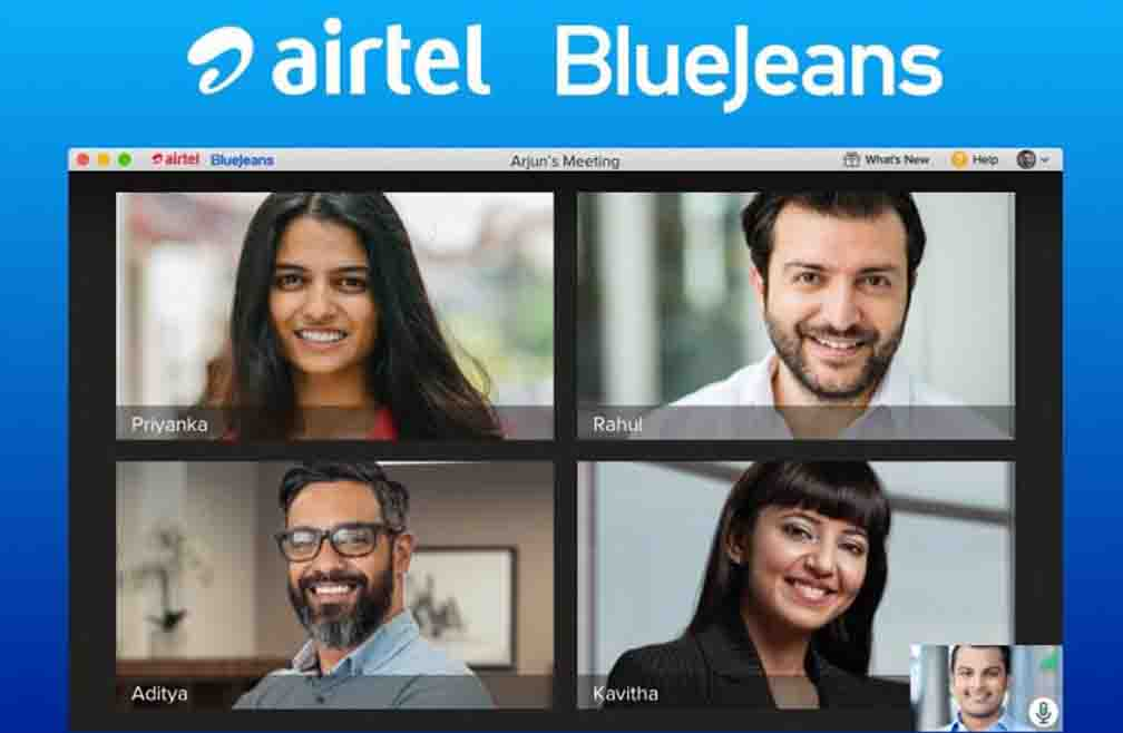 Airtel video conferencing app Airtel Blue Jeans launched