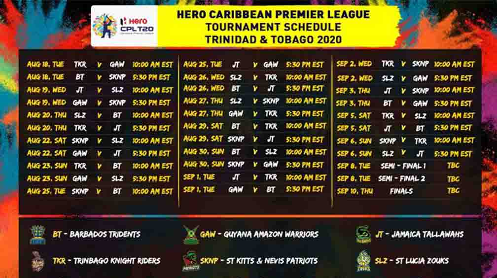 CPL season 2020 will start from August 18