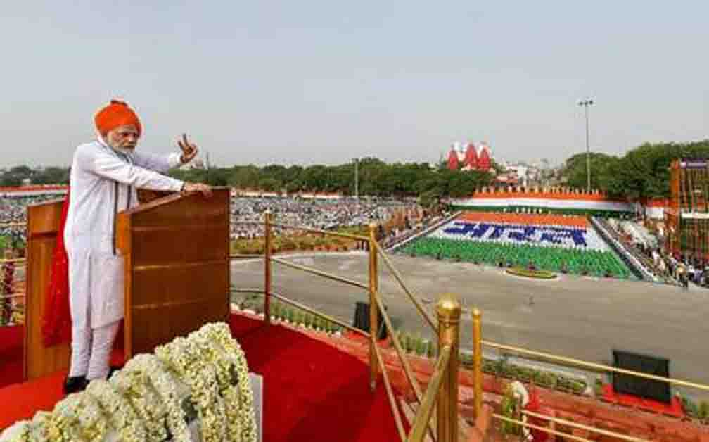 Today, Prime Minister Modi delivered an 86-minute speech from Red Fort