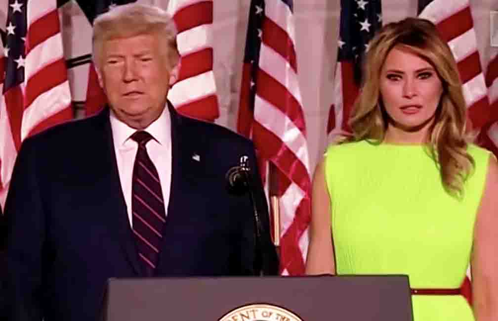 Trump's wife Melania's video went viral