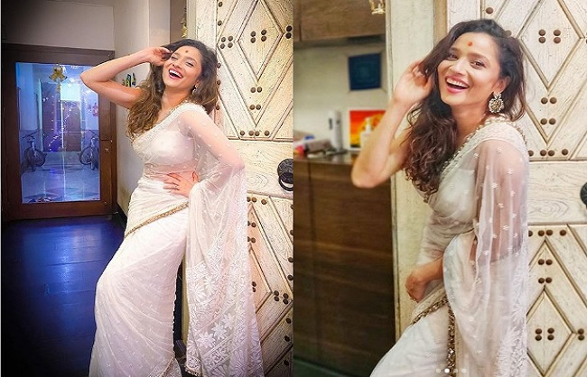 Ankita Lokhande Shares A Pictures In Saree Said How To Be Happy
