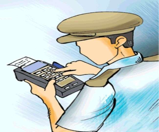 When the challan was deducted, the bullet rider ran away from the policeman