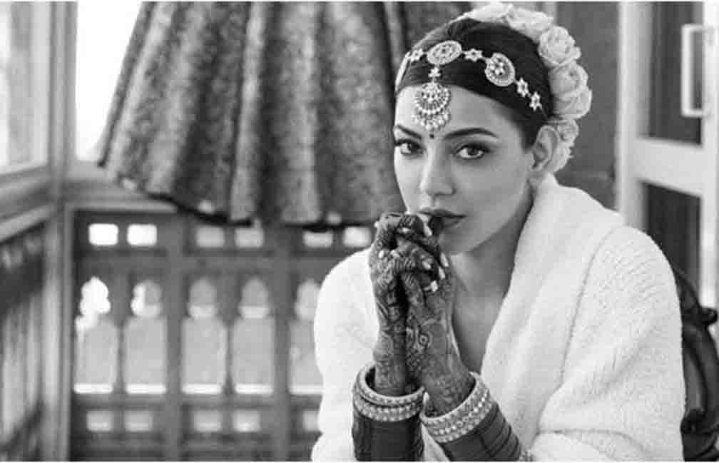Kajal Aggarwal shared a special photo by becoming a bride
