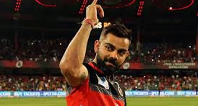 Kohli became the first player to play 200 matches for RCB