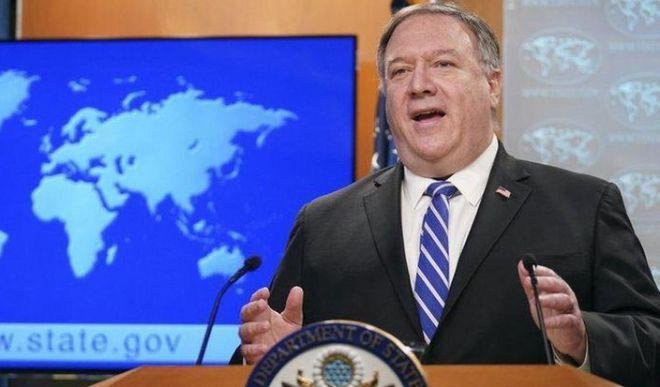 Pompeo defends 12 Hong Kong citizens detained by China