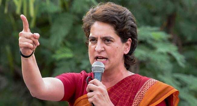 Priyanka targeted UP government on inflation