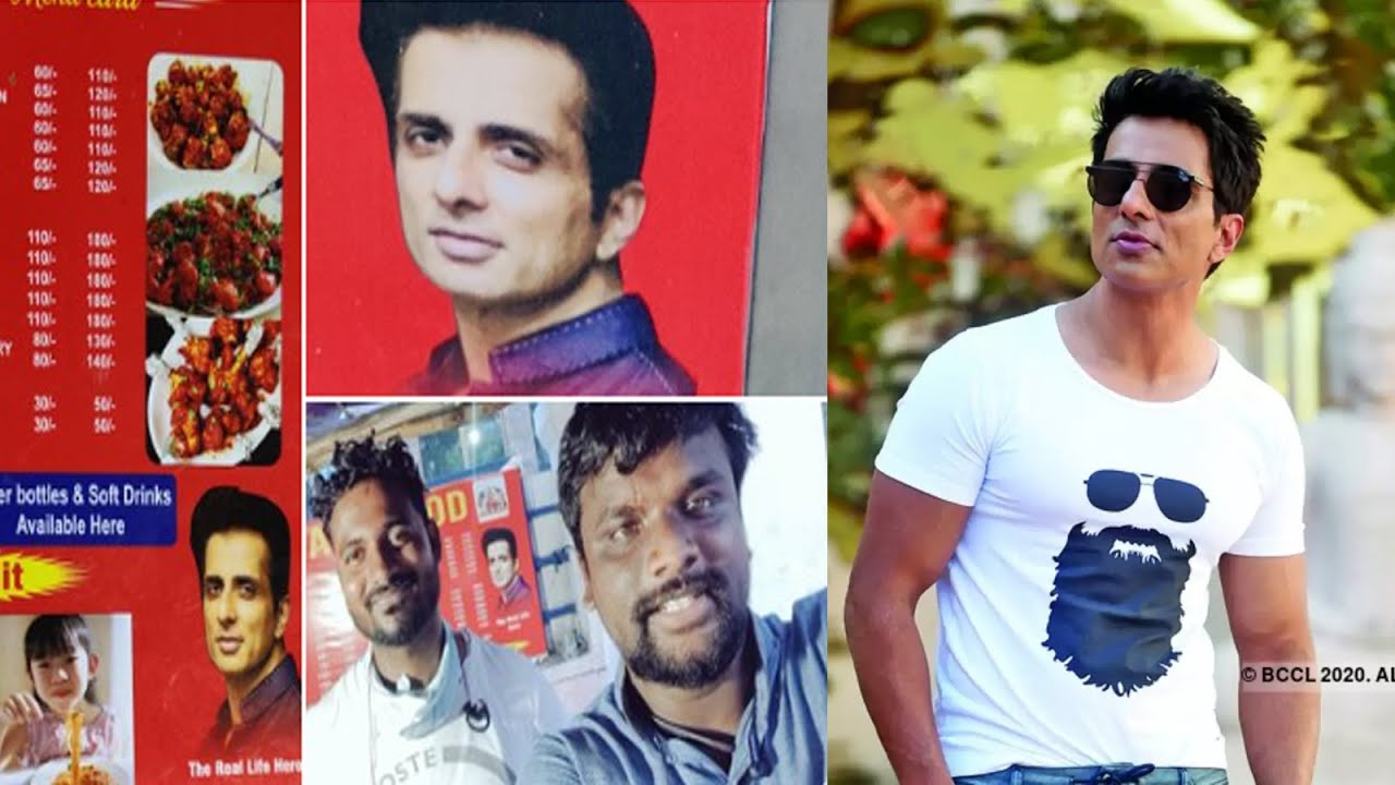 Sood reacted to name food stall after Sonu Sood