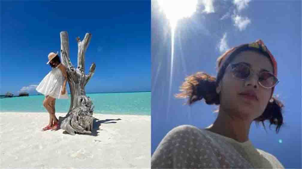 Taapsee Pannu shared the picture and asked to return from Maldives Vacation