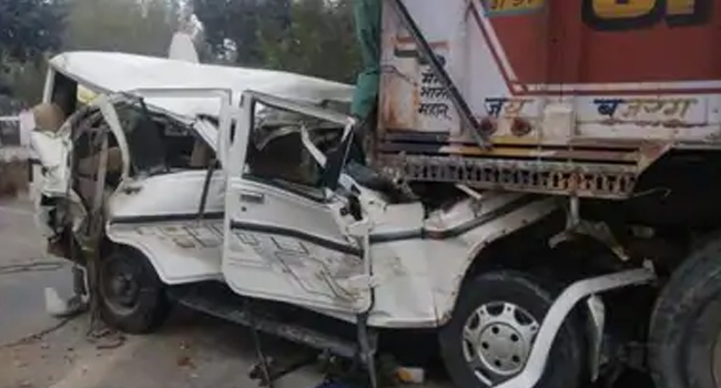 14 vehicles dead in Pratapgarh, a vehicle full of wedding collides with truck