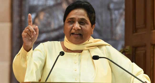 Atrocities with farmers under the cover of stubble: Mayawati