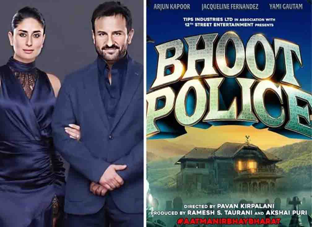 Poster of Saif's upcoming film Bhoot Police released