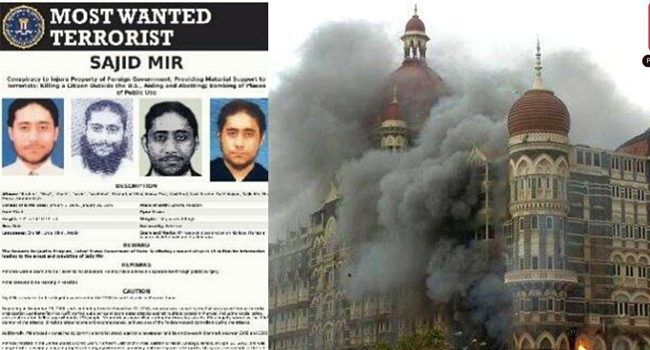 US announced a prize of 5 million dollars on Mumbai attack convict Sajid