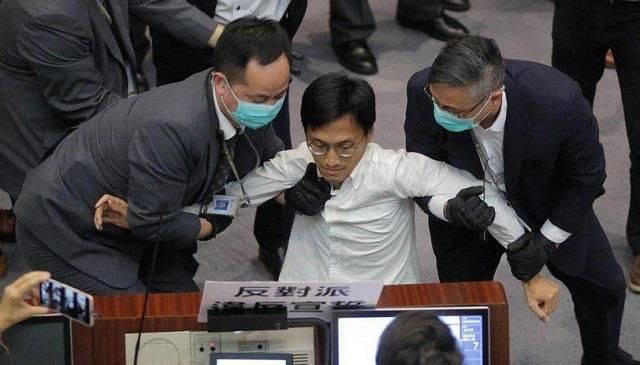 Former three pro-democracy MPs arrested in Hong Kong