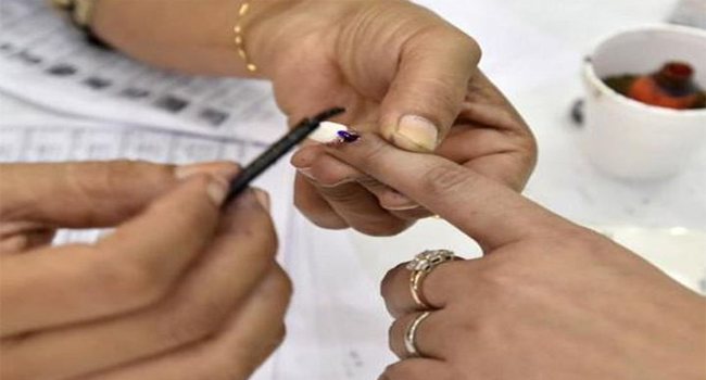 35.15 percent polling in two assembly seats till 9 am