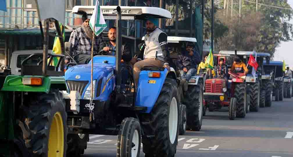 Police approved tractor parade to be held on 26 January