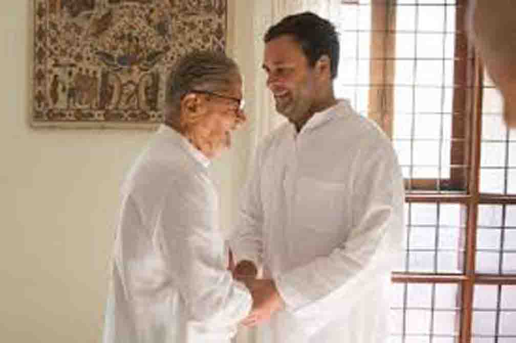 Rahul expressed grief over the death of Madhav Solanki