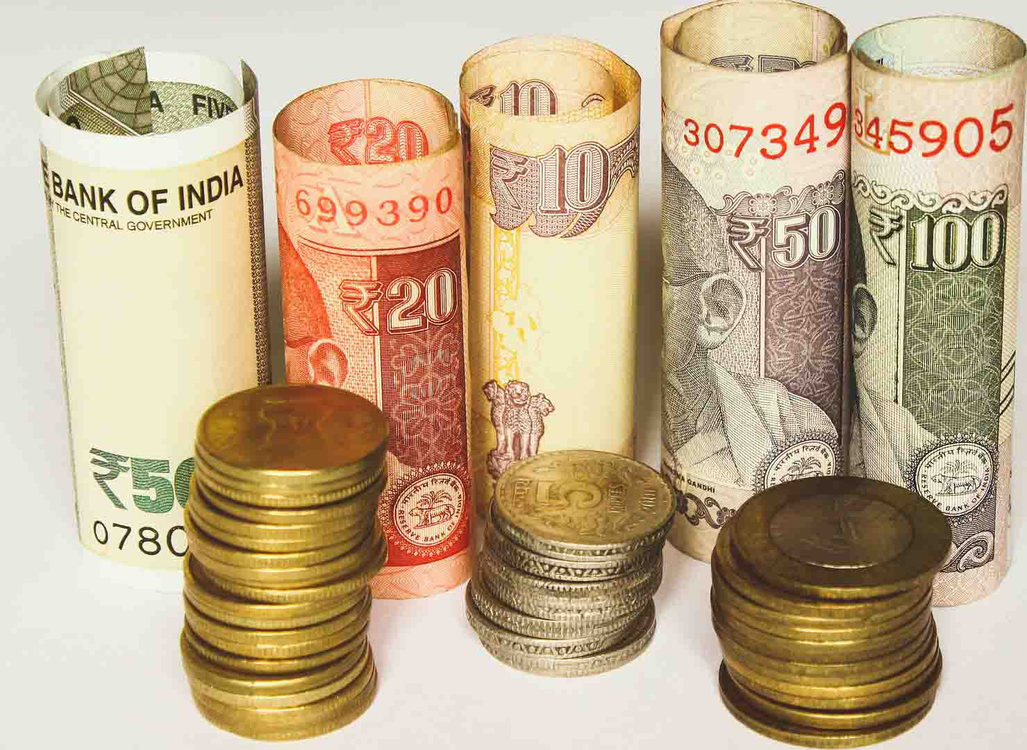 Rupee registered strength of eight paise against US dollar