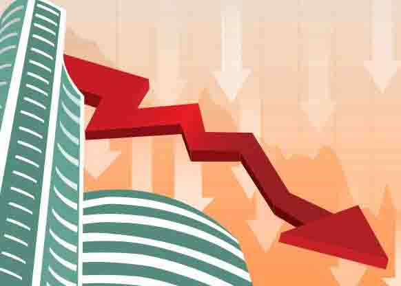 The major stock index Sensex fell by more than 520 points due to the fall in shares