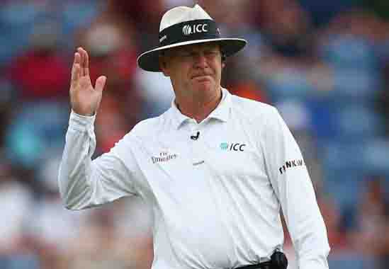 Umpire Bruce Oxenford said goodbye to international cricket