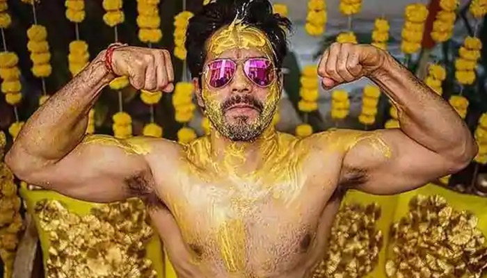 Varun Dhawan shared a glimpse of the turmeric ceremony