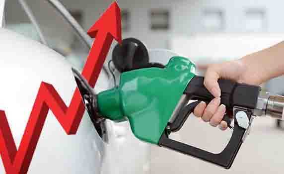 Petrol and diesel prices rise for the ninth consecutive day