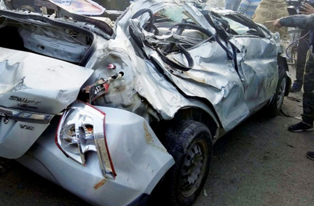 Three people died after being hit by car in Vaishali