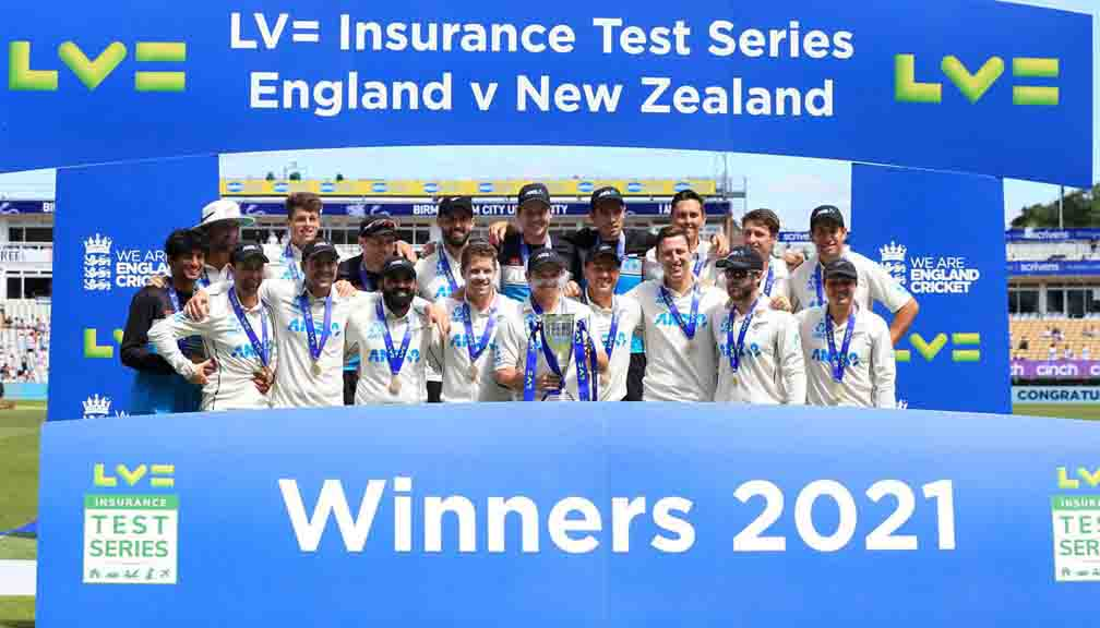 New Zealand won the Test series in England after 22 years