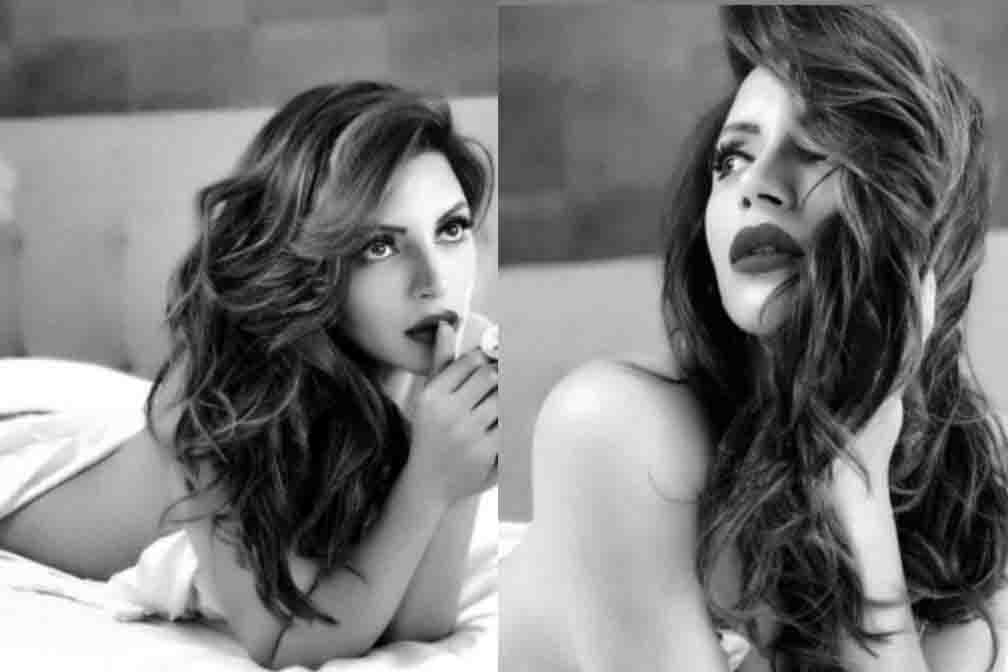 Shama Sikander got the photoshoot done just by wrapping the sheet