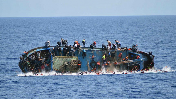 Boat capsizes off Libyan coast, 57 feared drowned